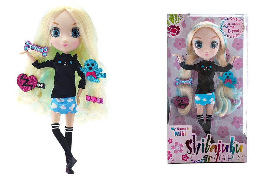 Shibajuku Girls HUN6618 Кукла Мики, 33 см