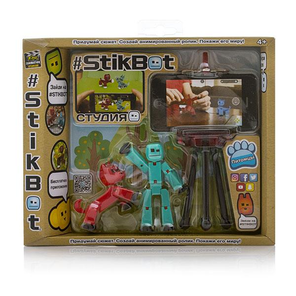 Stikbot TST615A Стикбот Студия с питомцем, в ассортименте