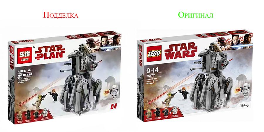 Оригинальный набор Лего и его китайский аналог