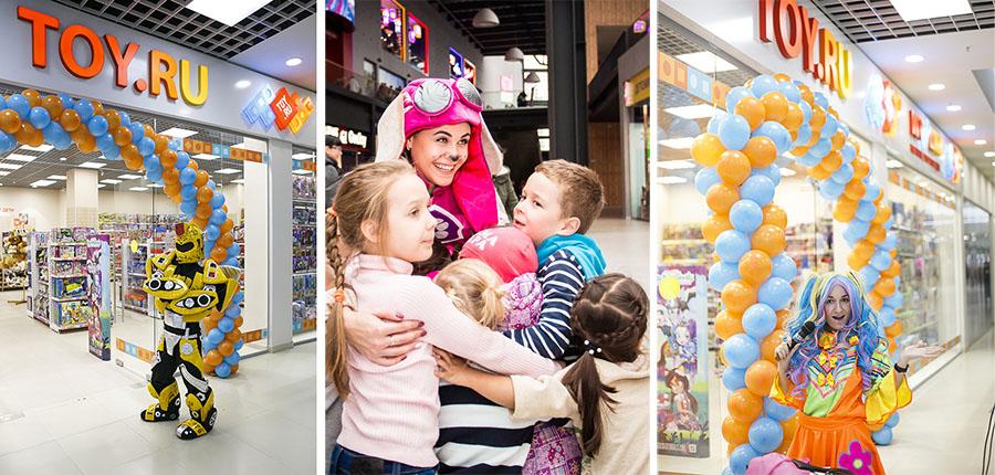 праздники в новых магазинах