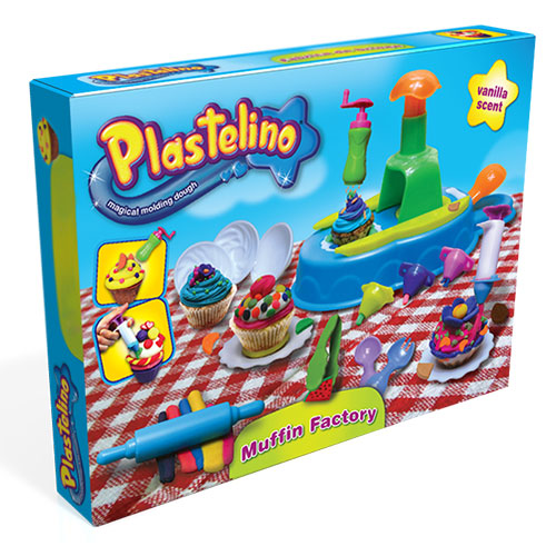 Набор для творчества Plastelino NOR3264 Пластелино Кондитерская - масса для лепки + аксессуары