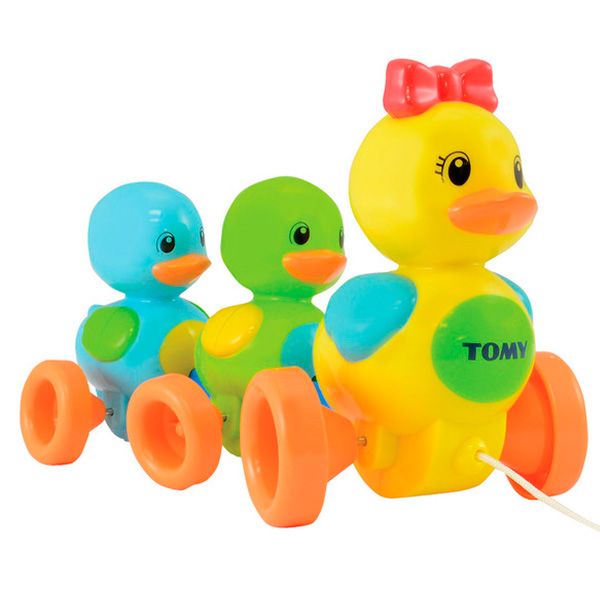 TOMY PlasticToys T4613 Томи Развивающие игрушки Веселая Утиная Семейка