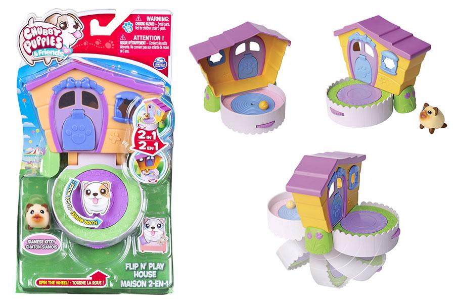 Игровой набор мини-котенка «Домик-трансформер»