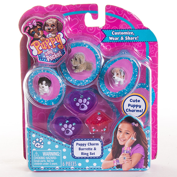 Puppy In My Pocket 48120-R Щенок в моем кармане Набор украшений с щенками, в ассортименте
