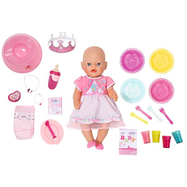 Zapf Creation Baby born 823-095 Беби Бон Кукла Интерактивная Праздничная, 43 см