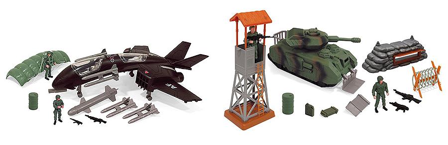 """Boley 31511 """"Военные"""" 2 набора в ассортименте: танк с аксессуарами или самолет"""