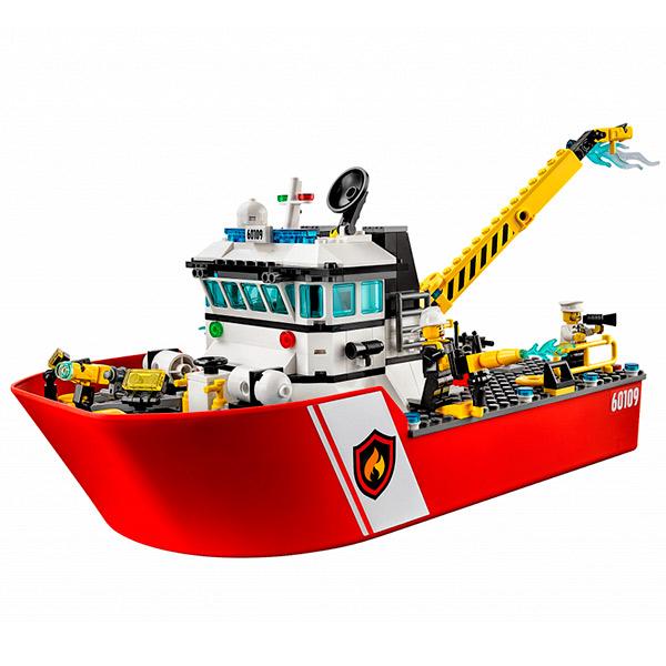 Лего Город Пожарный катер 60109