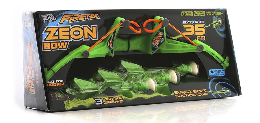 Zing FT811 Зинг Игрушка Лук с подсветкой средний 3 стрелы, в ассортименте