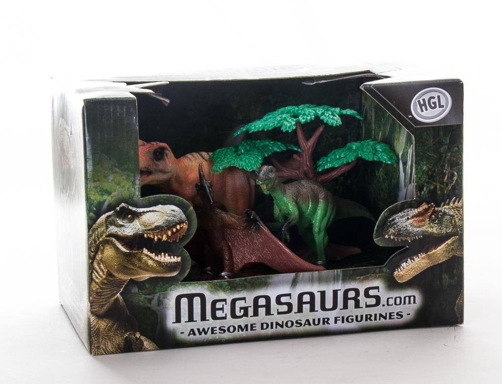 Игровой набор Megasaurs SV10621 Мегазавры 3 динозавра + дерево