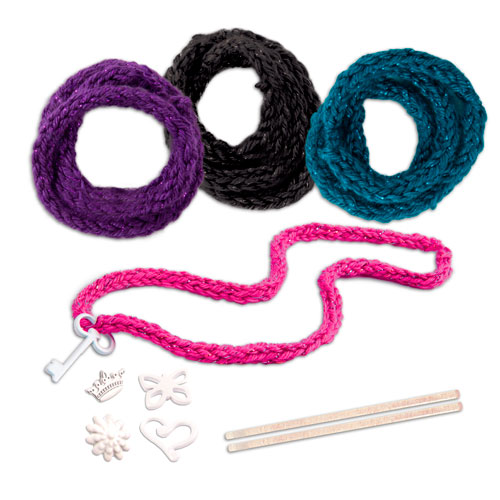 Набор для творчества Knits Cool 15801 Нитс Кул Набор для вязания ободка и браслетов