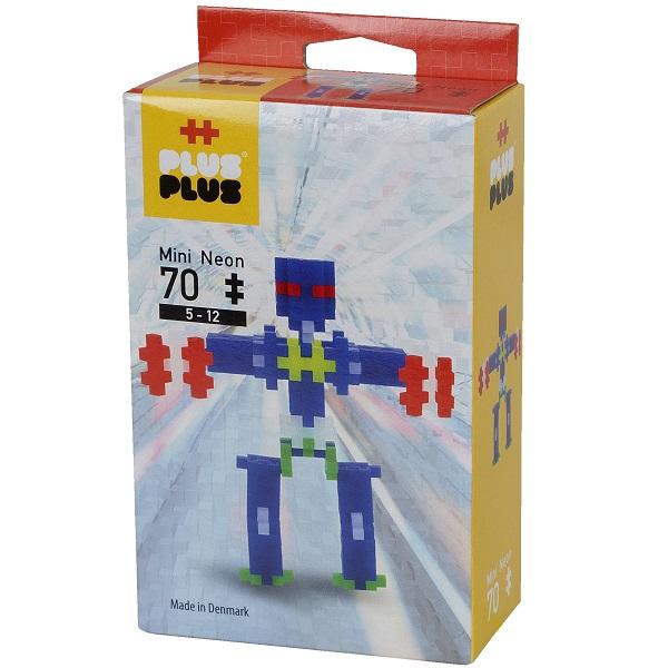 Plus Plus 3753 Разноцветный конструктор для создания 3D моделей(робот коричневый).jpg