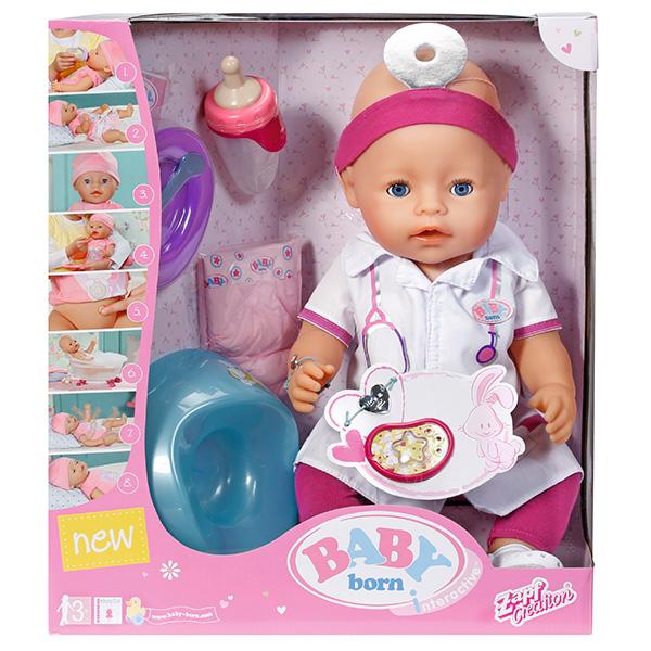 Кукла Доктор Zapf Creation Baby born 820-421 Бэби Борн Интерактивная, 43 см