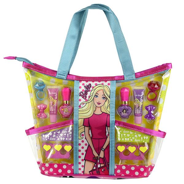 Markwins 9709251 Barbie Игровой набор детской декоративной косметики с сумкой