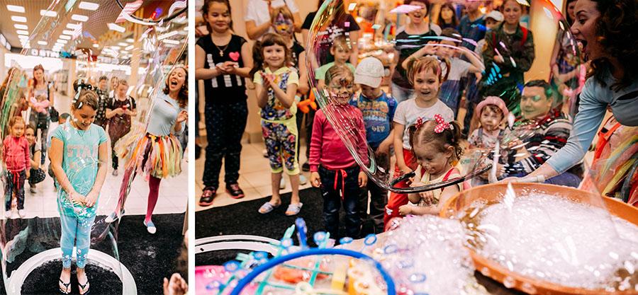 шоу мыльных пузырей на празднике в TOY.RU