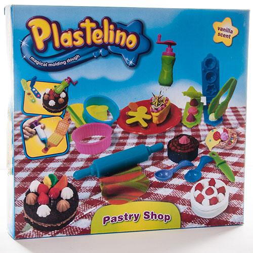 Набор для творчества Plastelino NOR3288 Пластелино Пекарня - масса для лепки + аксессуары