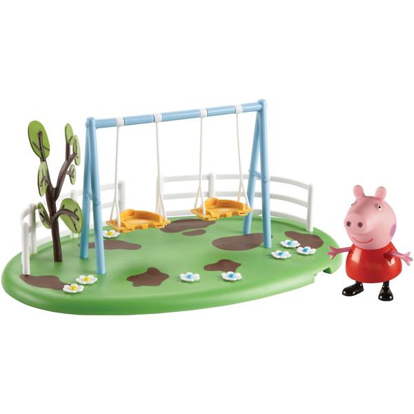 Peppa Pig 28776 Свинка Пеппа Игровой набор Игровая площадка Качели Пеппы