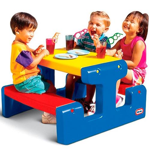 Стол с двумя скамейками Little Tikes 4795 Литл Тайкс (на 4-х детей)