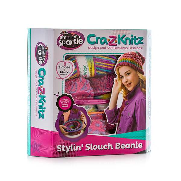 Cra-Z-Knitz 17436 Крейзи Нитс Набор для вязания Стильная Шапка-колпак