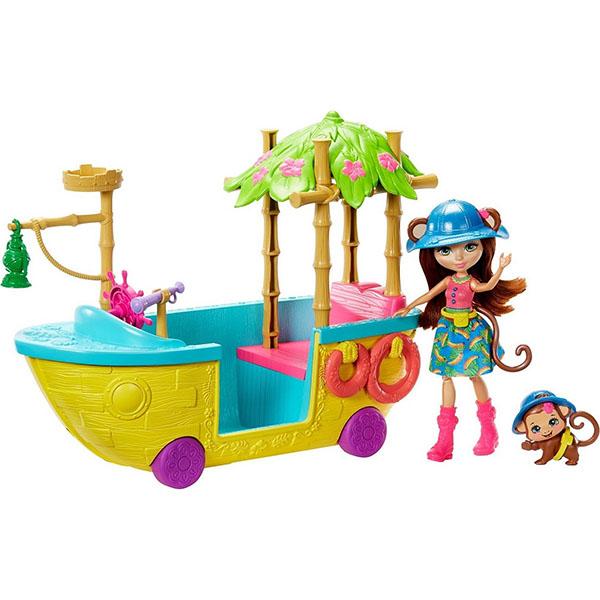 Mattel Enchantimals GFN58 Джунгли-лодка