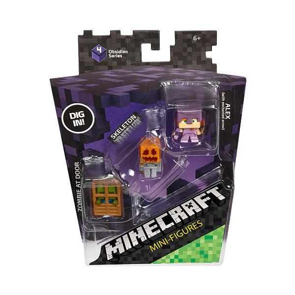 Mattel Minecraft CGX24 Майнкрафт: набор из 3-х фигурок