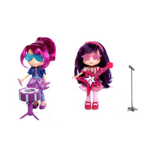 Strawberry Shortcake 12243 Шарлотта Земляничка Кукла 15 см с музыкальным инструментом, 4 в асс-те