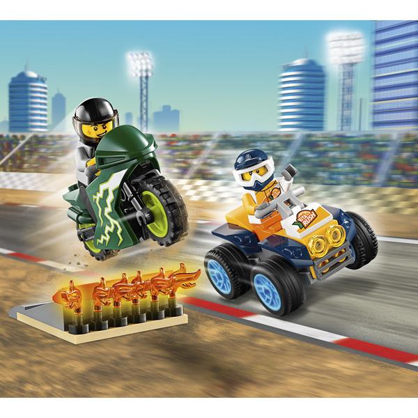LEGO City 60255 Конструктор ЛЕГО Город Turbo Wheels Команда каскадёров