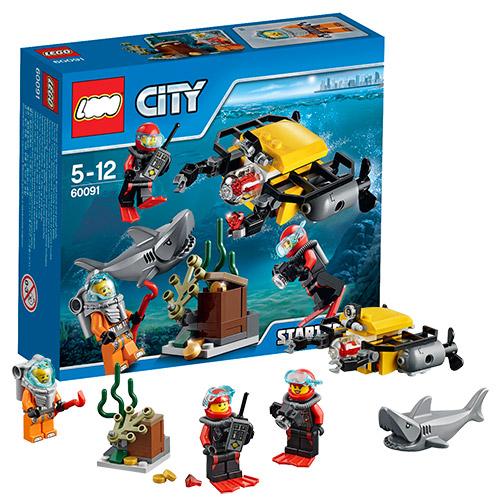 Конструктор Lego City 60091 Лего Город Морская исследовательская лаборатория для начинающих