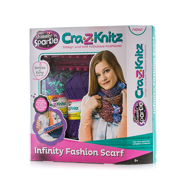 Cra-Z-Knitz 17435 Крейзи Нитс Набор для вязания Шарф-хомут
