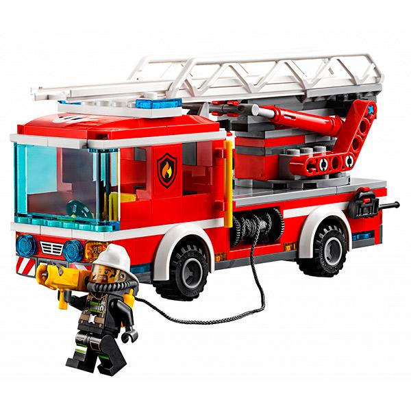 Лего Город Пожарный автомобиль с лестницей 60107
