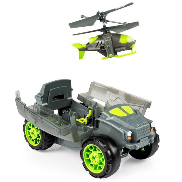 Игрушка AirHogs 44492 Эйрхогс Транспортная машина (Бронемашина) с вертолетом-разведчиком