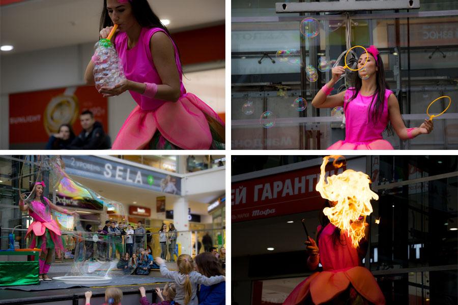 пузыри и файер шоу праздник TOY.RU