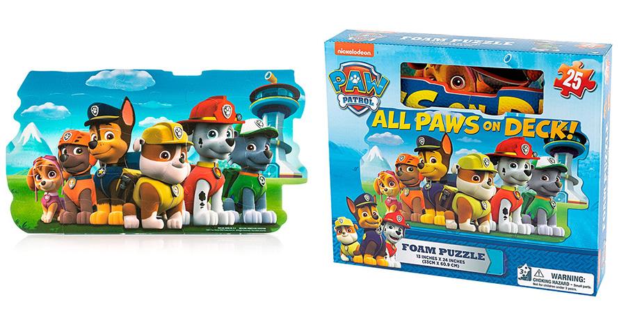 Paw Patrol 6028790 Щенячий патруль Игра Spinmaster коврик-пазл