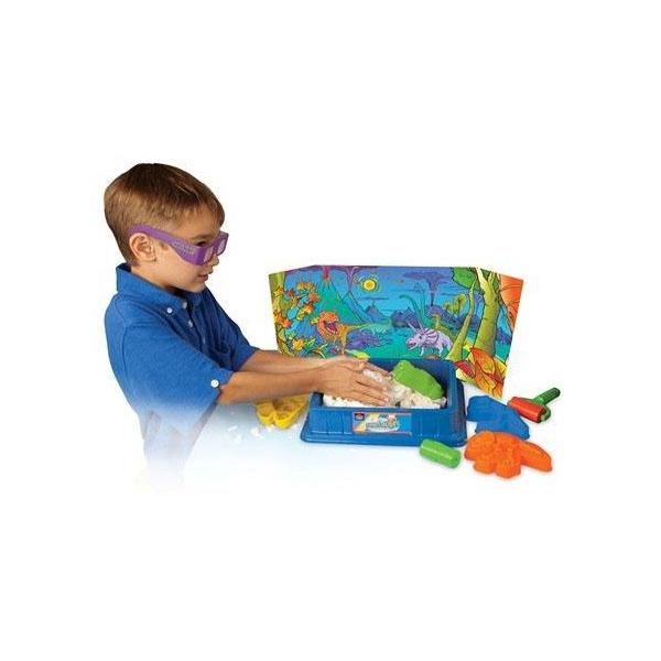 Игровой набор для творчества Sands Alive 25030 Сэндс Элайв Набор 3D Крепость Динозавров 675г, аксеccуары