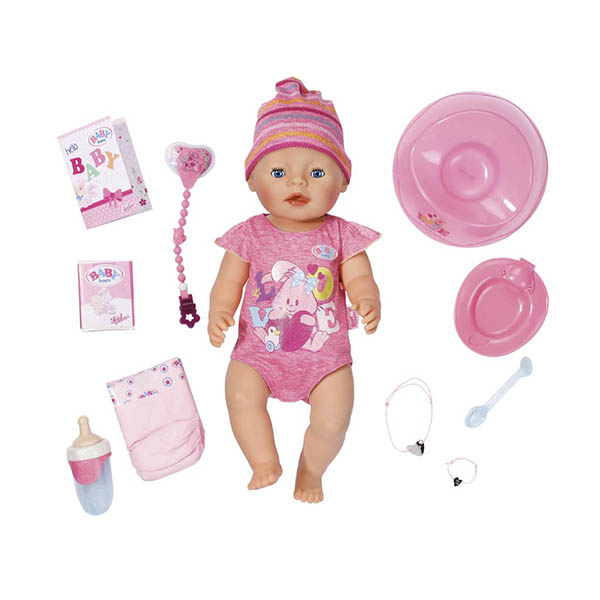 Zapf Creation Baby born 823-163 Беби Бон Кукла Интерактивная, 43 см