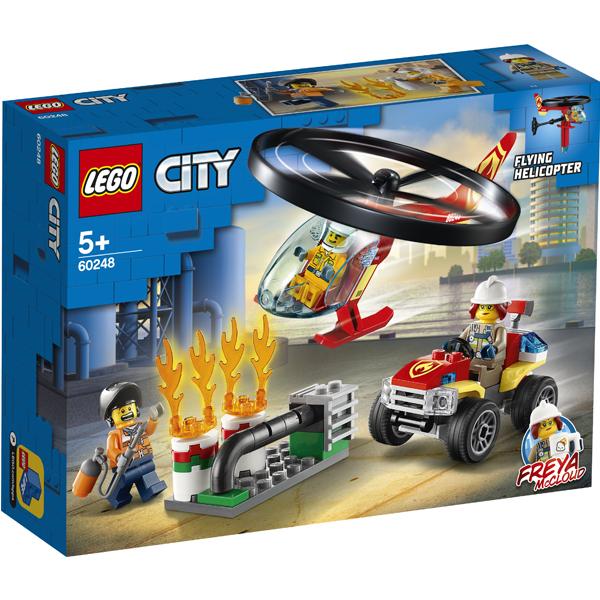 LEGO City 60248 Конструктор ЛЕГО Город Пожарный спасательный вертолёт