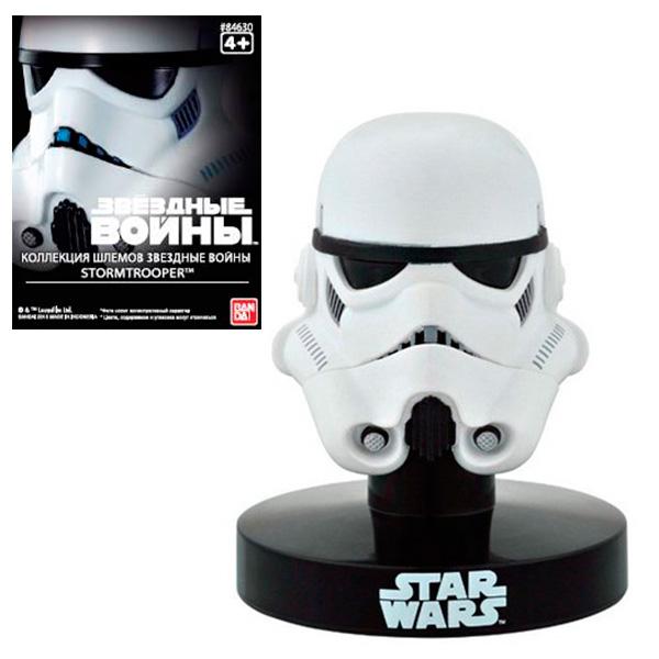 Star Wars Bandai 84630 Звездные Войны Шлем на подставке Штурмовик 6,5 см