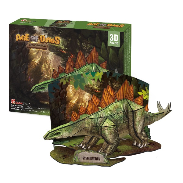 Игрушка Cubic Fun P670h Кубик фан Эра Динозавров Стегозавр