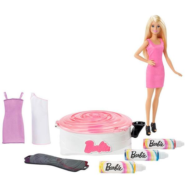 Barbie DMC10 Барби Набор для создания цветных нарядов и кукла