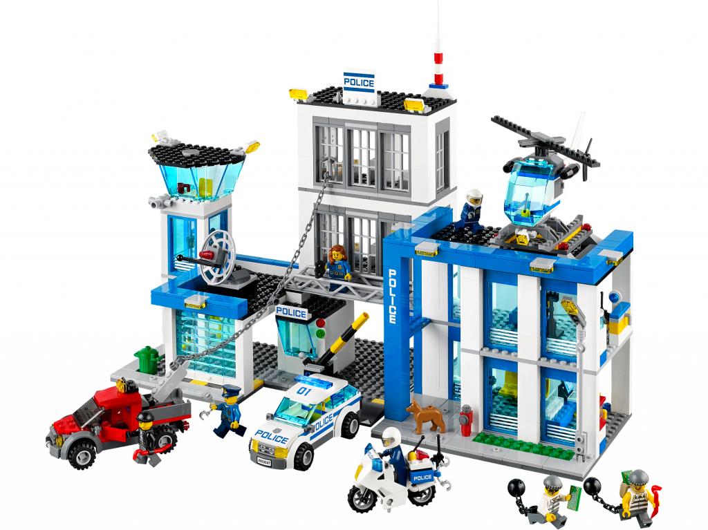 Общий вид набора 60047 Лего Сити Полицейский участок