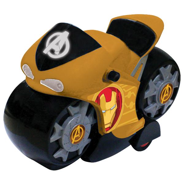 """Yellow 5073 Инерционный мотоцикл """"Мстители"""" 15 см, 4 цвета в ассортименте"""