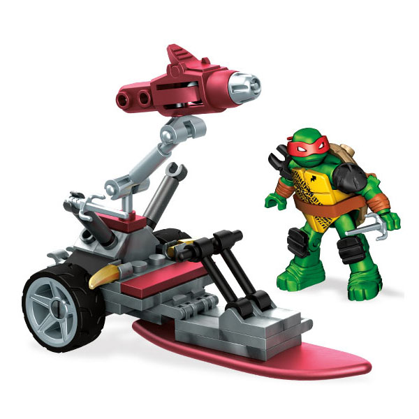Mattel Mega Bloks FFC55 Мега Блокс Черепашки Ниндзя: замаскированный транспорт Ральфа