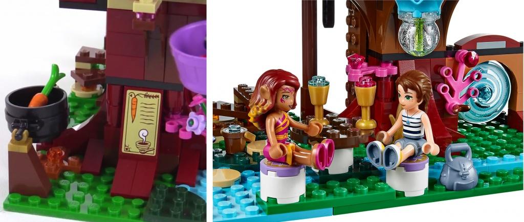 Кухня и обеденный стол, минифигурки Эмили и Азари