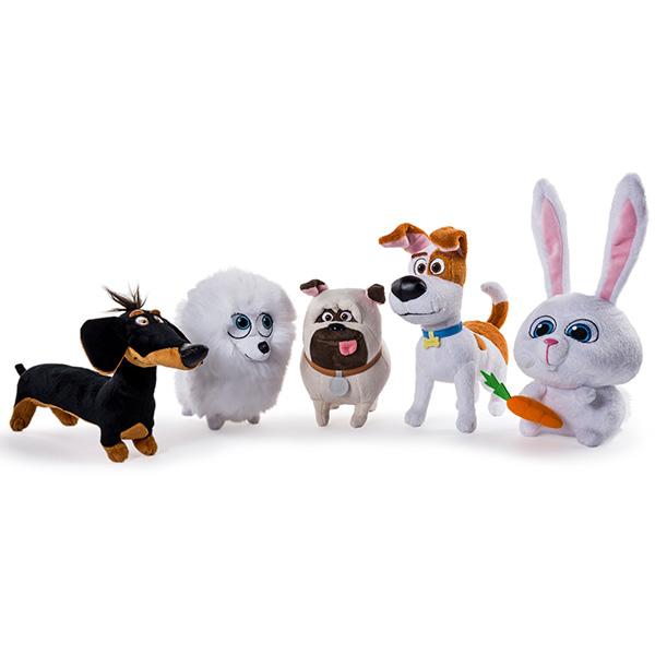 Secret Life of Pets 72804 Тайная жизнь домашних животных Плюшевый герой 15 см, в ассортименте