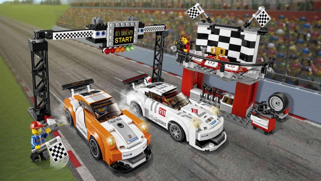 Конструктор Lego Speed Champions 75912 Лего Чемпионс Финишная линия Порше 911 GT
