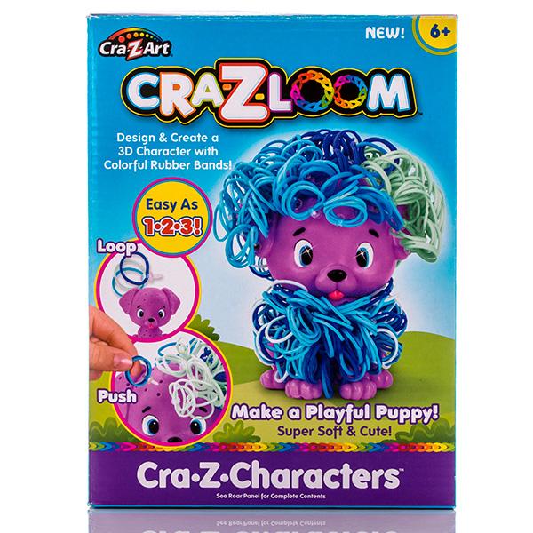 Crazy Loom 19167 Крейзи Лум Набор для творчества - фигурка Щенок+ цветные резиночки