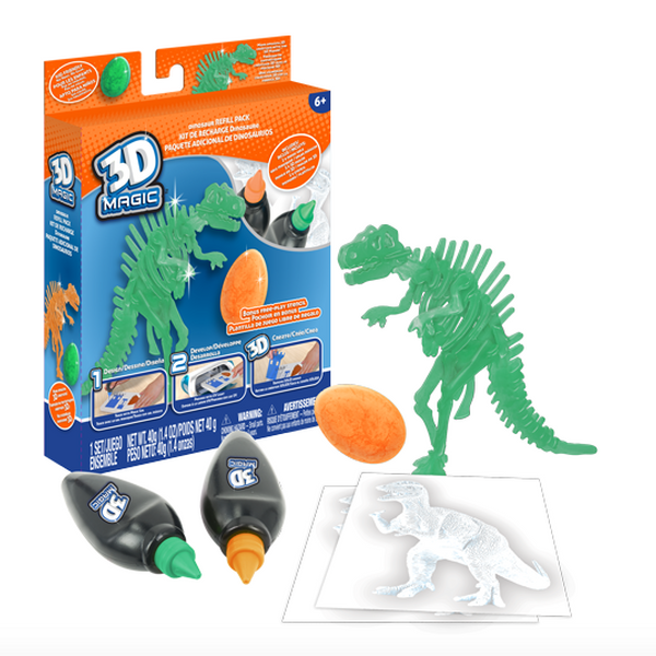 3D Magic 83001 Тематический набор для создания объемных моделей - тиранозавр рекс