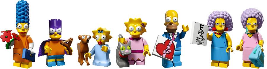 Мардж, Барт, Маленький помощник Санты, Мэгги, Снежинка II, Лиза, Гомер, Сэльма, Пэтти