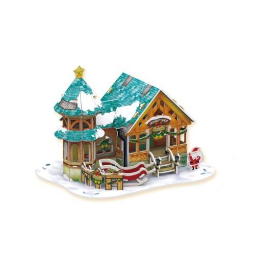 Рождественский 3D пазл Cubic Fun P649h Кубик Фан Рождественский домик 3 (с подсветкой)