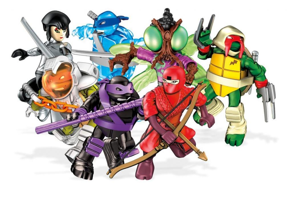 Mattel Mega Bloks FDB65 Мега Блокс Черепашки Ниндзя: персонажи мультфильма, в ассортименте