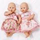 Zapf Creation Baby Annabell 793-817 Бэби Аннабель Платья и комбинезоны, 4 в ассортименте